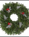 fresh holiday wreaths decorated